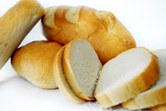 White bread. 500gr, 300gr and slices Royalty Free Stock Photo
