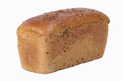 White bread. Isolated white bread Royalty Free Stock Photo