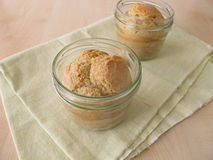 White bread baked in jar Royalty Free Stock Image