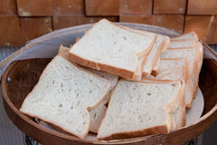 White bread in basket Royalty Free Stock Image