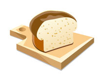 White bread on board Stock Image