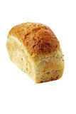 White bread with bran isolated. On white Royalty Free Stock Photography