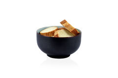 White bread in ceramic bowl Royalty Free Stock Images