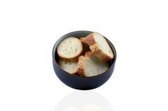 White bread in ceramic bowl Stock Photo