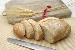 White bread cut into slices Stock Images
