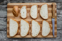 White bread on a cutting board Stock Photos