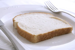 White bread dinner Royalty Free Stock Images