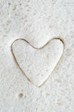 White Bread Heart Royalty Free Stock Image