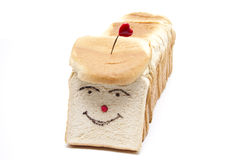 White bread with heart Royalty Free Stock Photography