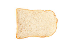 White bread isolate on the white background. Stock Images