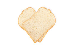 White bread isolate on the white background. Royalty Free Stock Image