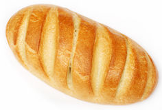 White bread isolated Royalty Free Stock Images