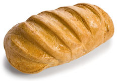 White bread isolated Stock Images