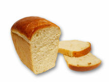 White bread isolated object Royalty Free Stock Image