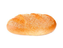 White bread isolated on white. Background Royalty Free Stock Photography