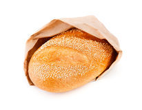 White bread isolated on white. Background Stock Images