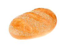 White bread isolated on white. Background Stock Photos