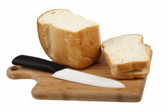 White bread and knife Stock Image