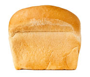 White bread loaf. Against white background Stock Photos