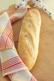 White bread loaf near the napkins Stock Image