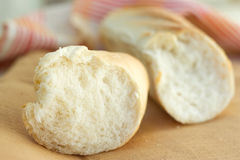 White bread loaf near the napkins Royalty Free Stock Photo