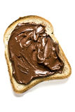 White Bread with Nutella Royalty Free Stock Photo