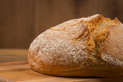 White bread over wooden background Stock Photo