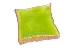 White bread with Pandan Custard Royalty Free Stock Image