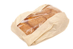 White bread with sesame in a paper bag Royalty Free Stock Image