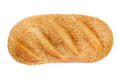 White bread with sesame. View from above. Royalty Free Stock Photography