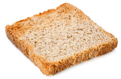 White bread slice. Toast Isolated on white Royalty Free Stock Photography