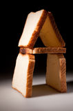 White bread slices house Royalty Free Stock Images