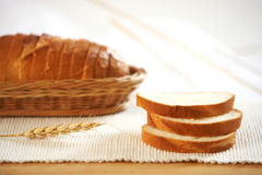 White bread slices Royalty Free Stock Images
