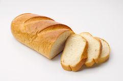 White Bread with Slices Stock Photos