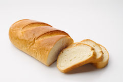 White Bread with Slices Stock Photography