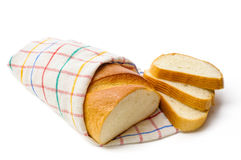 White Bread with Slices Royalty Free Stock Photos