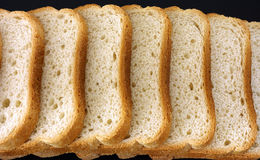 White bread slices in a row Royalty Free Stock Photography
