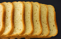 White bread slices in a row Royalty Free Stock Photo