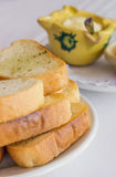 White bread toast with aioli tapas Royalty Free Stock Photography