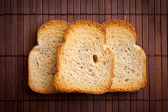 White bread toast. Stock Photography