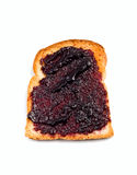 White bread toast with berry jam Royalty Free Stock Photo