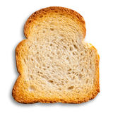 White bread toast. Isolated on white background Royalty Free Stock Photo