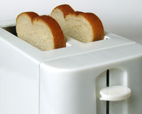 White bread toaster Royalty Free Stock Image