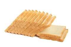 White bread for toasts Royalty Free Stock Images