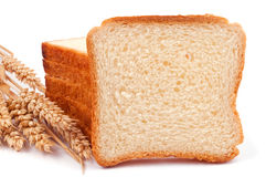 White bread and wheat ears Royalty Free Stock Photo
