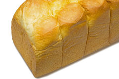 White bread in a white background Royalty Free Stock Photos