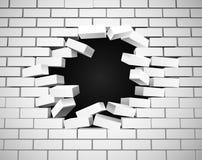 White Breaking Wall Stock Photo