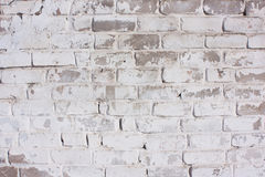 White brick background. Facade of the house, a fence, a wall of Royalty Free Stock Photo