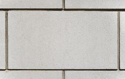 White brick block, copy space Royalty Free Stock Image