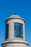 White Brick and Blue Glass Cupola Royalty Free Stock Images